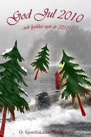 Kalamiehen joulukortti